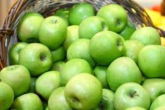 Groene appelen voor voeding Stock Foto