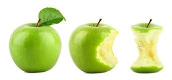 Groene appelrij Stock Afbeeldingen