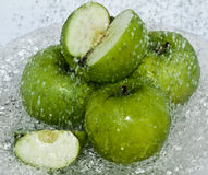 Groene Apple-Plons van water Stock Fotografie