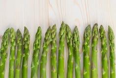 Groene aspergeachtergrond Stock Foto's