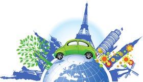 Groene auto. Stock Foto's