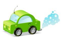 Groene auto Stock Afbeelding