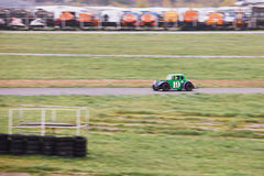 Groene auto nummer 19 Royalty-vrije Stock Afbeelding