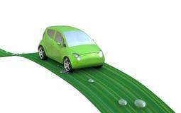 Groene auto op een blad Royalty-vrije Stock Fotografie