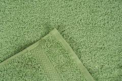 Groene badstofhanddoek Stock Fotografie