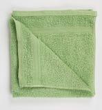 Groene badstofhanddoek Stock Afbeeldingen