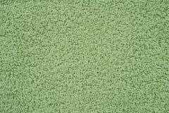Groene badstofhanddoek Stock Foto's