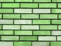 Groene bakstenen Stock Afbeelding