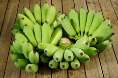 Groene bananen Stock Foto