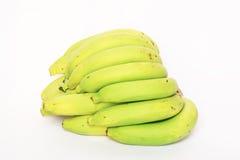 Groene bananen op wit Thailand. Stock Foto's