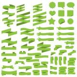 Groene bannerinzameling Stock Foto