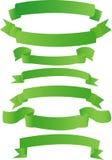 Groene banners Stock Foto's