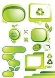 Groene banners Stock Fotografie