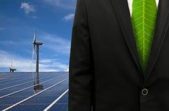 Groene Bedrijfs en ecoenergie Stock Foto's