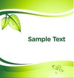 Groene Bedrijfs VectorAchtergrond Stock Fotografie