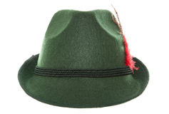 Groene Beierse hoed Stock Afbeeldingen