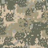 Groene, beige en kaki digitale camouflage Royalty-vrije Stock Foto