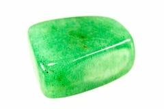 Groene bevlekte melkachtig tuimelt opgepoetste aventurinekiezelstenen royalty-vrije stock afbeelding