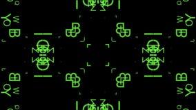 Groene Bewegende brieven vector illustratie