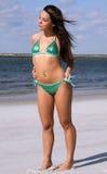 Groene bikini royalty-vrije stock afbeelding
