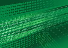 Groene binaire codeachtergrond Royalty-vrije Stock Foto's