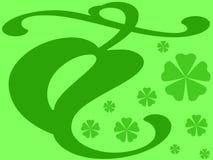 Groene bladeren en bloemen royalty-vrije illustratie