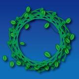 Groene bladerenring Stock Foto