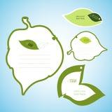 Groene bladkantoorbehoeften Stock Afbeeldingen
