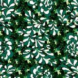 Groene bloemblaadjes van bomen kleurrijke abstracte naadloze achtergrond Stock Fotografie