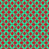 Groene bloembloemblaadjes op een rood naadloos patroon als achtergrond vector illustratie