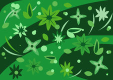 Groene Bloemen Royalty-vrije Stock Foto