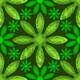 Groene Bloemen Naadloze Grunge Stock Fotografie
