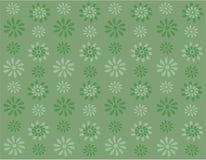 Groene bloemen op groene achtergrond stock illustratie