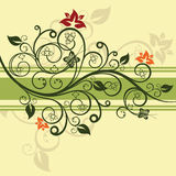 Groene bloemen vectorillustratie Royalty-vrije Stock Afbeelding