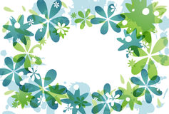 Groene bloemenachtergrond Stock Foto