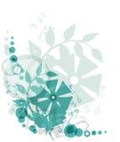 Groene bloemenachtergrond vector illustratie