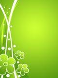 Groene bloemenachtergrond Royalty-vrije Stock Foto's