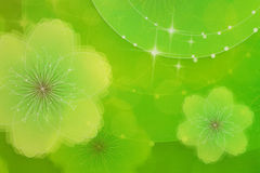 Groene bloemenachtergrond Stock Foto's