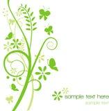 Groene bloemenachtergrond