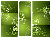 Groene BloemenAchtergronden Stock Afbeelding