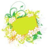 Groene bloemenbanner Royalty-vrije Stock Afbeeldingen