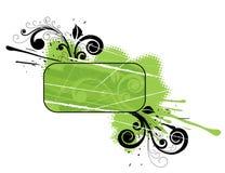 Groene bloemenbanner stock illustratie