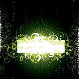 Groene BloemenBanner vector illustratie