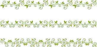 Groene Bloemengrens vector illustratie