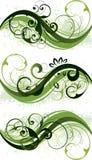 Groene BloemenOntwerpen royalty-vrije illustratie