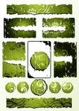 Groene BloemenOntwerpen vector illustratie
