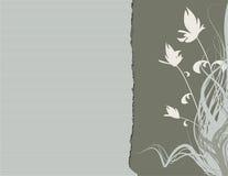 Groene BloemenRand vector illustratie