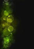 Groene bokehachtergrond Stock Afbeeldingen