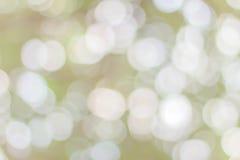Groene bokehcirkels Stock Foto