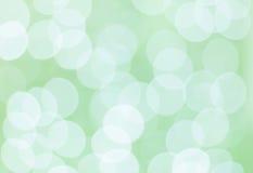 Groene bokehcirkels Royalty-vrije Stock Afbeelding
